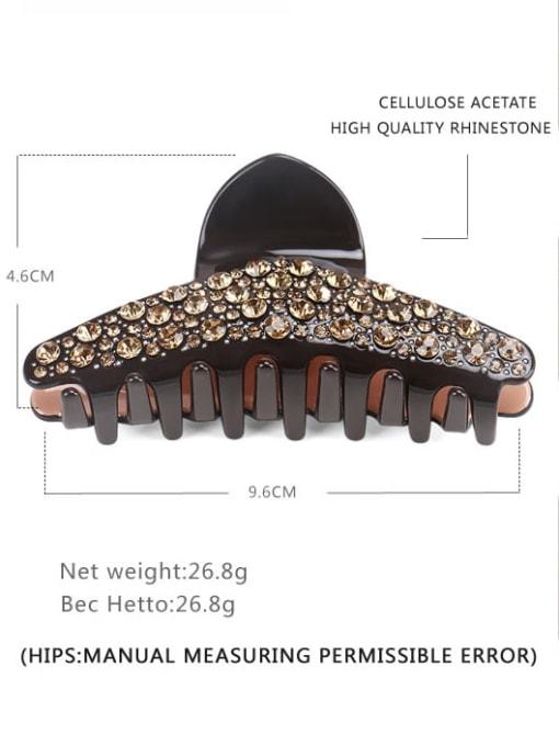 BUENA Cellulose Acetate Minimalist Geometric Rhinestone Jaw Hair Claw 1