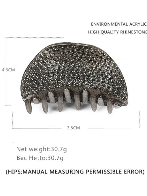 Large grey Acrylic Minimalist Irregular Rhinestone Multi Color Jaw Hair Claw