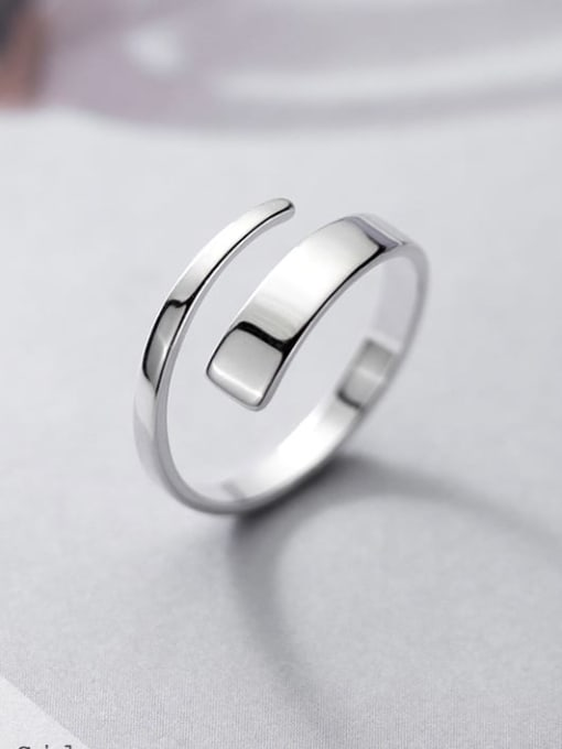 Rosh 925 Sterling Silver Silver Round Trend Stackable Ring 1
