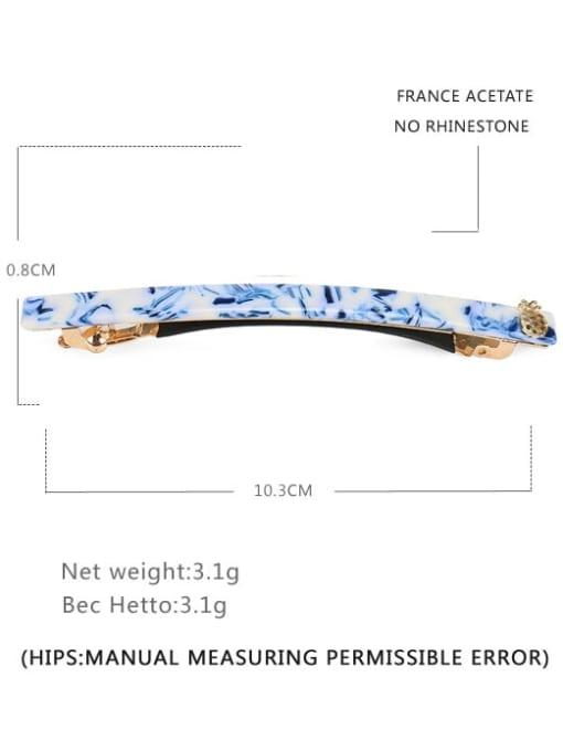 Light blue Alloy Cellulose Acetate Minimalist Geometric  Hair Barrette