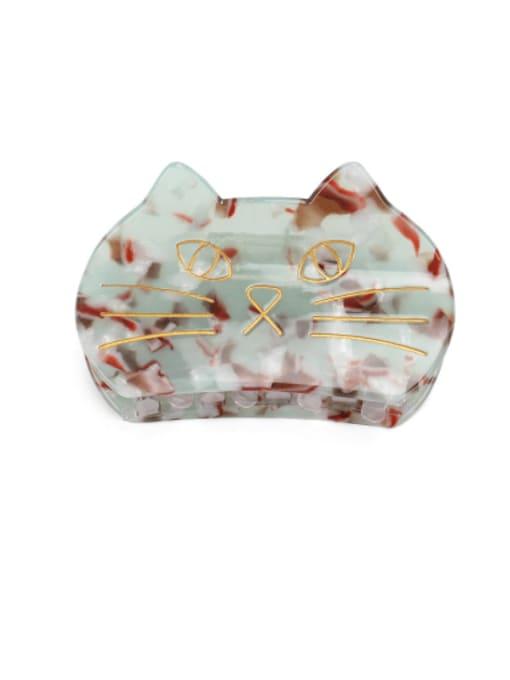 BUENA Cellulose Acetate Minimalist Cat Multi Color Jaw Hair Claw 1