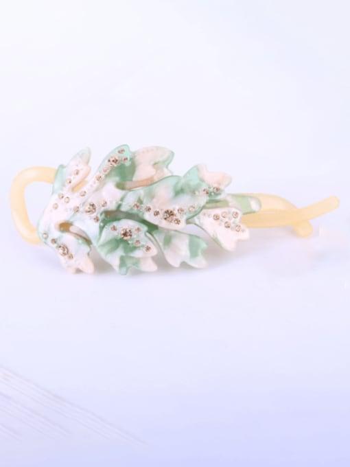 BUENA Cellulose Acetate Minimalist Flower Multi Color Hair Barrette 2