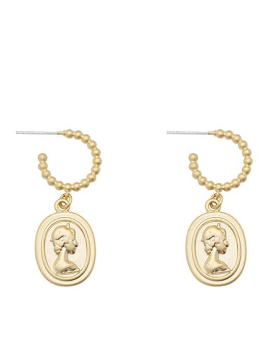 HYACINTH Alloy Gold Geometric Minimalist Drop Earring 4