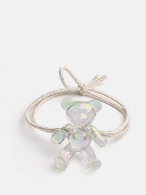 Colorful white bear gold rope Cute Colorful White Bear Hair Rope