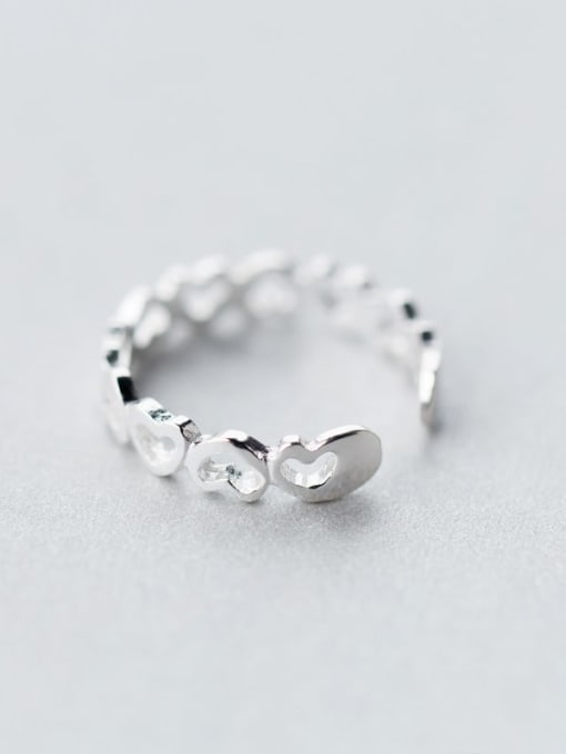 Rosh 925 Sterling Silver Silver Heart Dainty Ring 3