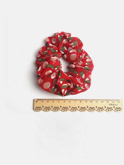 JoChic Fabric Minimalist Friut Cherry  Hair Barrette 2