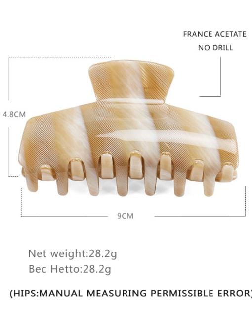 Strip Beige Cellulose Acetate Minimalist Geometric Jaw Hair Claw