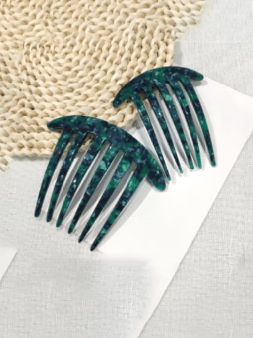 BUENA Cellulose Acetate Minimalist Multi Color Hair Comb