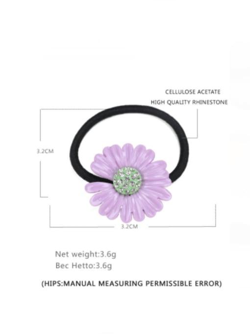 BUENA Cellulose Acetate Minimalist Flower Rhinestone Multi Color Hair Barrette 1