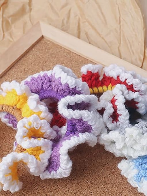 JoChic Candy colored knitted large intestine hair loop head rope 0