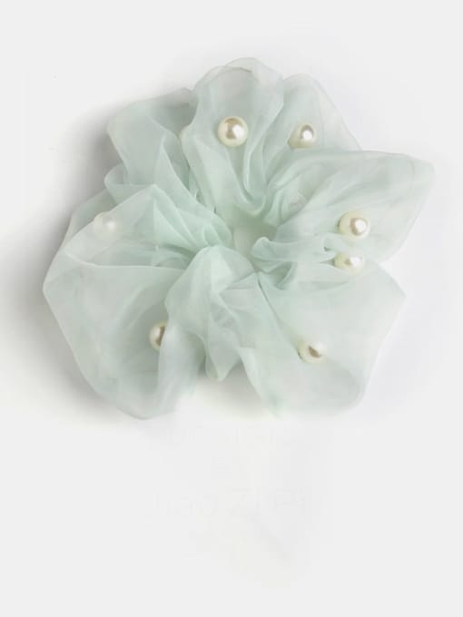 Bean green pearl mesh Yarn Minimalist Imitation Pearl Hair Barrette
