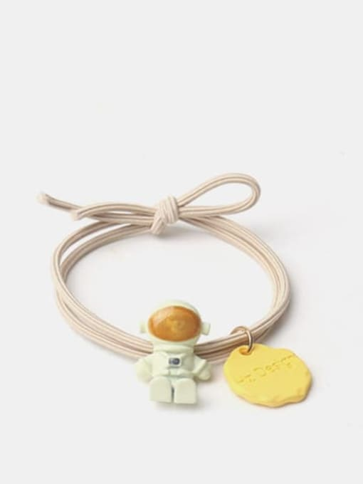 Beige seated astronaut Alloy Cute  Resin Multi Color Hair Rope