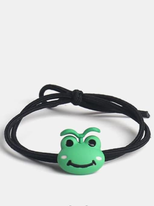 Long grass frog Alloy Enamel Cute Long grass Cartoon Bear Multi Color Hair Rope