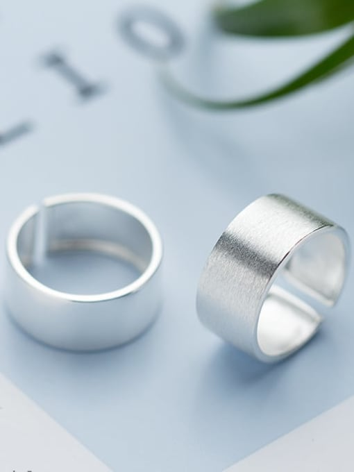 Rosh 925 Sterling Silver Silver Round Minimalist Band Ring 2