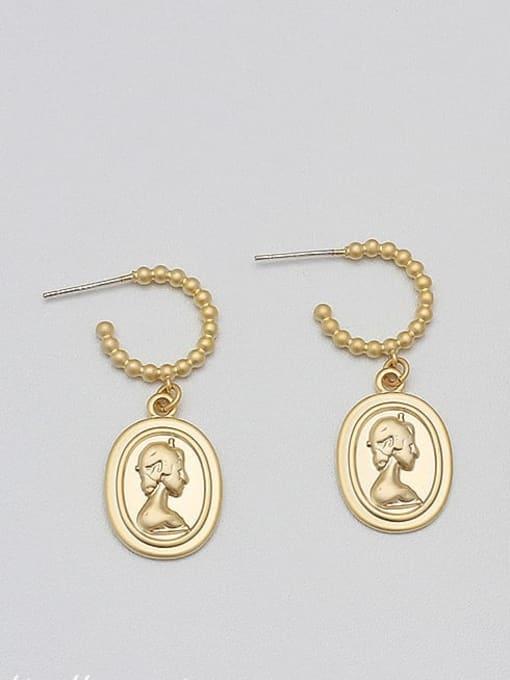 Dumb gold Alloy Gold Geometric Minimalist Drop Earring