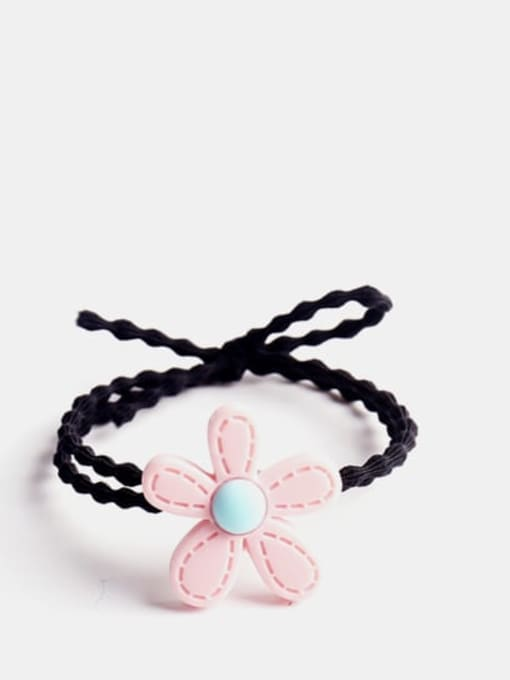 Light pink Enamel Cute Flower Resin Multi Color Hair Barrette