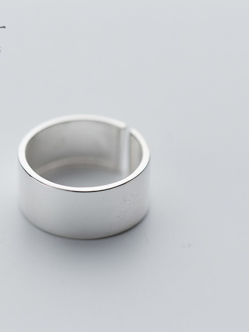 Rosh 925 Sterling Silver Silver Round Minimalist Band Ring 1