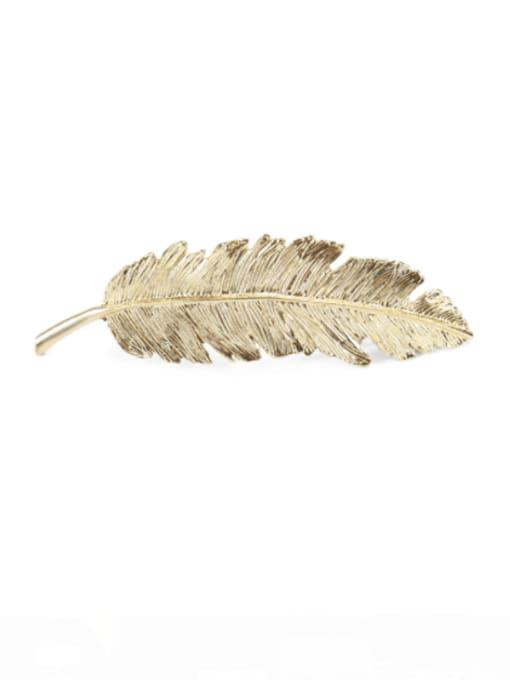 golden Alloy  Vintage Hollow Leaf Hair Barrette