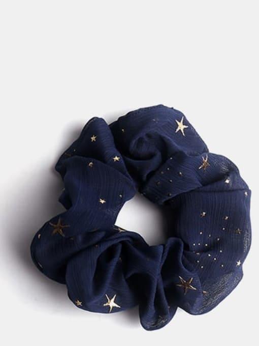 Black Star Fabric Minimalist Star Hair Barrette