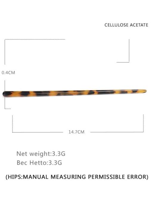 BUENA Cellulose Acetate Minimalist Multi Color Hair Stick 2