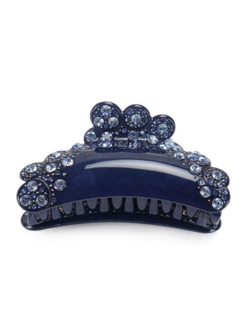 blue Acrylic Minimalist Irregular Alloy Rhinestone Multi Color Jaw Hair Claw
