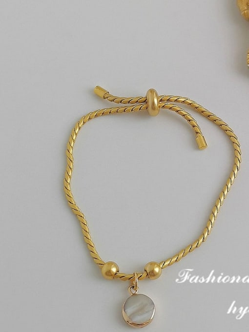 Electroplating alloy Alloy Shell Gold Geometric Trend Adjustable Bracelet