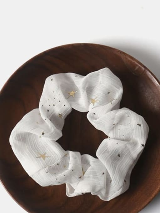 White Fabric Minimalist Star Hair Barrette