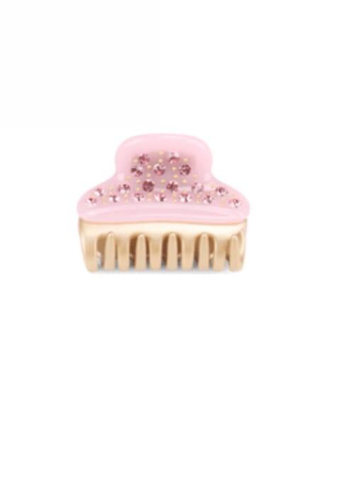 Candy powder Cellulose Acetate Minimalist Alloy Rhinestone Jaw Hair Claw