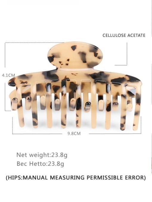 BUENA Cellulose Acetate Minimalist Geometric Jaw Hair Claw 3