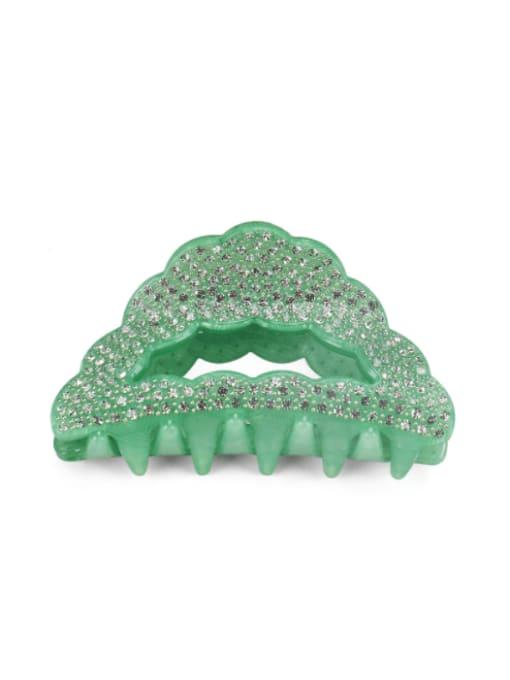 Green+ White Acrylic Minimalist Geometric Alloy Rhinestone Multi Color Jaw Hair Claw
