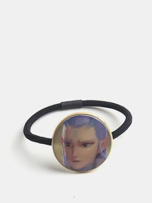 JoChic Alloy Cute Round  Resin Multi Color Hair Rope 2