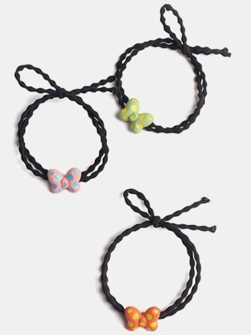 JoChic Alloy Enamel Cute Butterfly Multi Color Hair Barrette