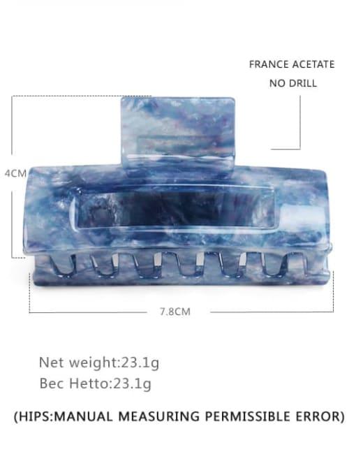 Quicksand blue Cellulose Acetate Minimalist Geometric Multi Color Jaw Hair Claw