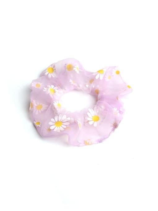 Purple daisy  intestine circle Simple large intestine ring hair rope
