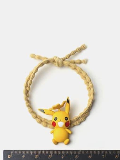 JoChic Alloy Enamel Cute  Yellow Hair Rope 1