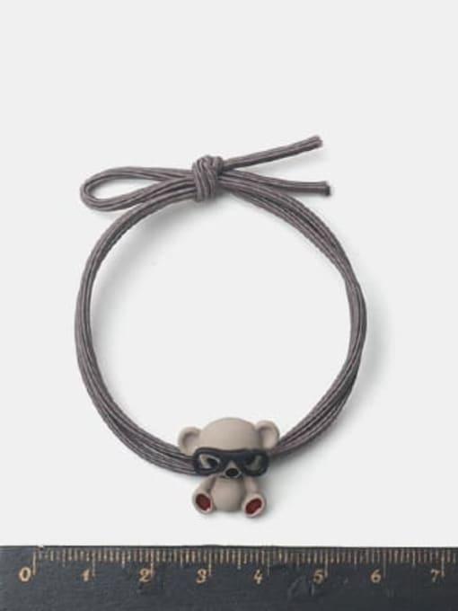 JoChic Alloy Cute Pink Koala With Glasses Hair Rope 1