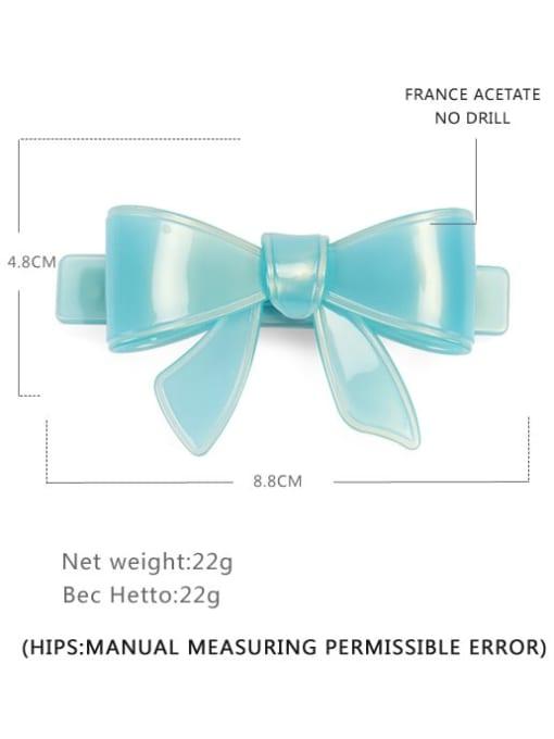Light blue Big Cellulose Acetate Minimalist Bowknot Hair Barrette