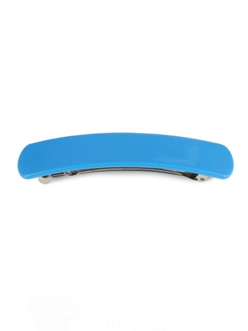 blue Alloy Cellulose Acetate Minimalist Geometric  Hair Barrette