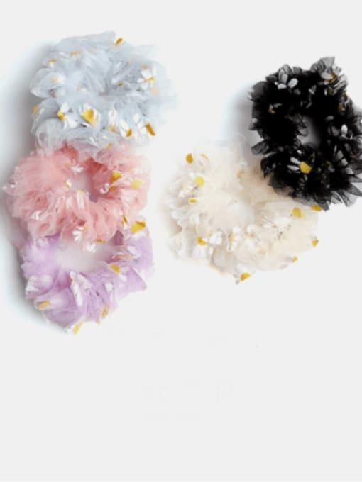 JoChic Net Yarn Small Daisies Minimalist Flower Hair Barrette 1