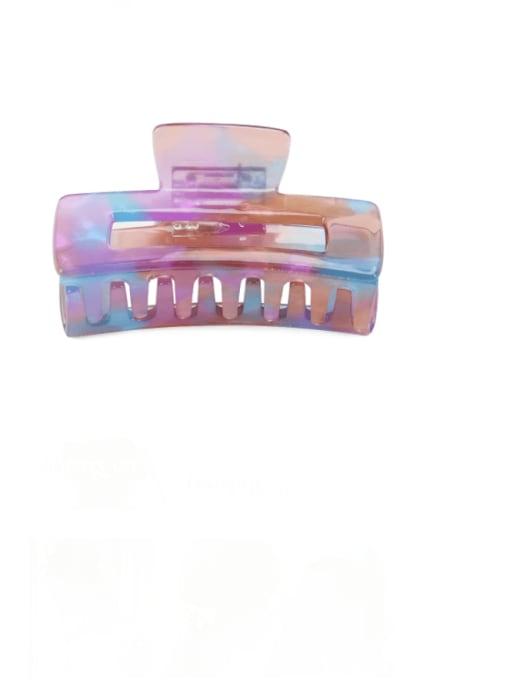 Magic blue purple Cellulose Acetate Minimalist Geometric Multi Color Jaw Hair Claw