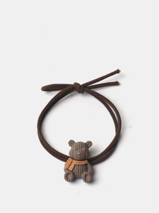 Red brown Alloy Cute Bear  Hair Rope