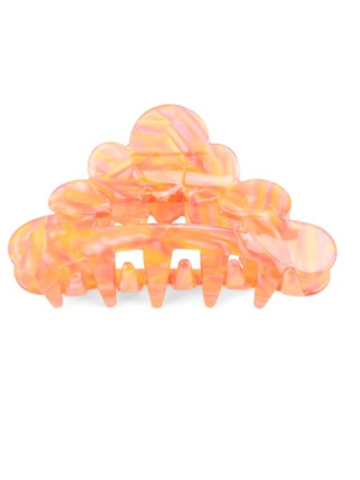 orange Cellulose Acetate Vintage Geometric Jaw Hair Claw