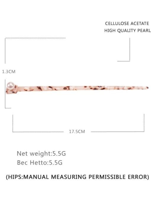 Hawksbill shell Cellulose Acetate Minimalist Irregular Multi Color Hair Stick