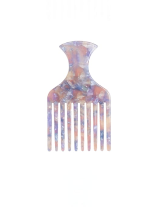 Pink Purple Cellulose Acetate Minimalist Multi Color Hair Comb