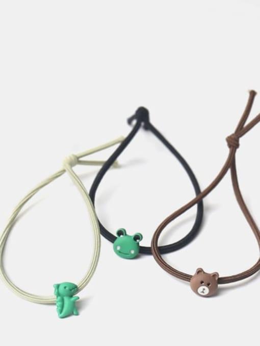 JoChic Cute Pikachu Dinosaur Brown Bear Rabbit Frog  Hair Rope 1