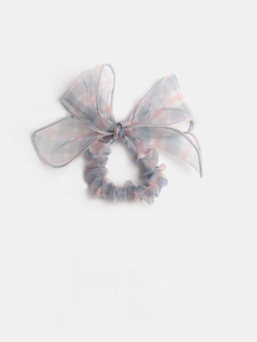 Grey lattice bow Yarn Minimalist Bowknot Hair Barrette