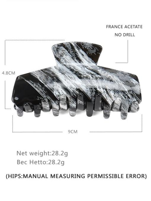 Strip gray Cellulose Acetate Minimalist Geometric Jaw Hair Claw