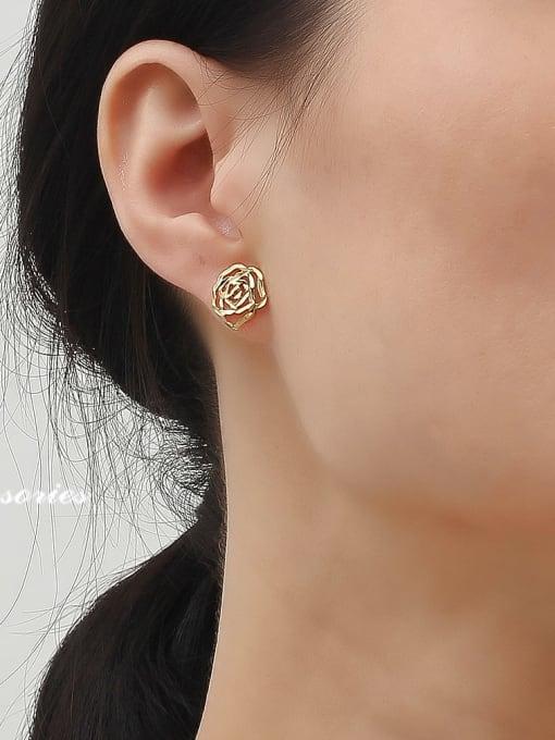 HYACINTH Alloy Gold Geometric Minimalist Single Earring 1