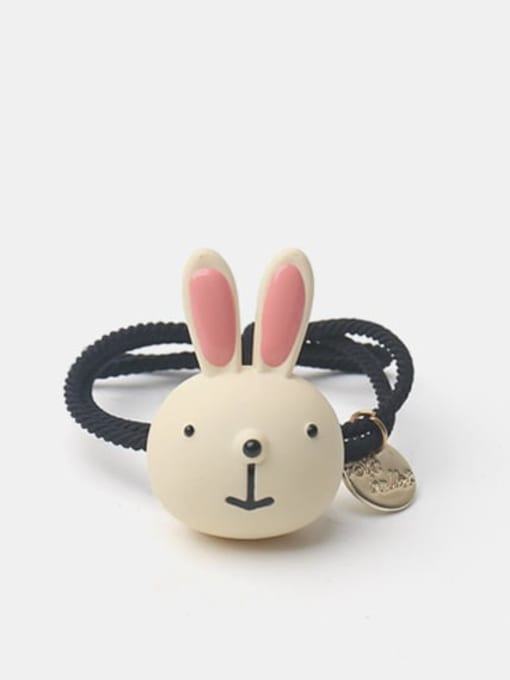 Rice white rabbit Enamel Cute Rabbit Resin Multi Color Hair Rope