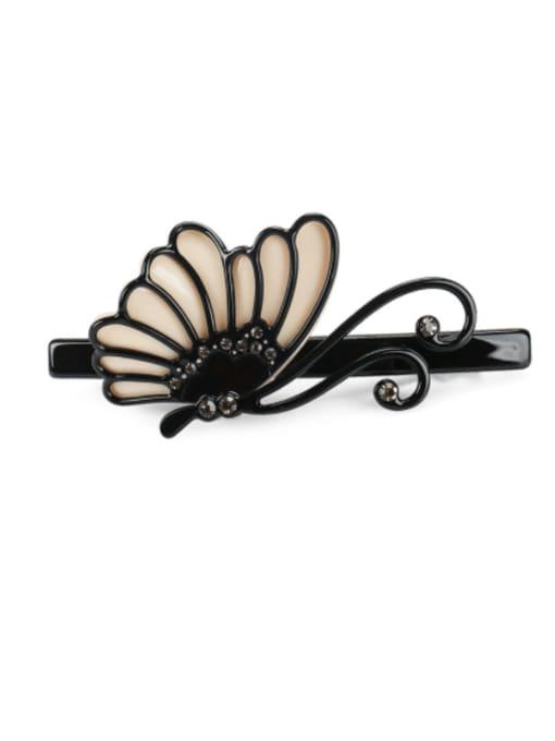 BUENA Cellulose Acetate Minimalist Butterfly Rhinestone Hair Barrette 0